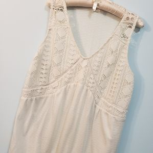 Maurices Cream Colored Lace Tank Top